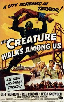 The Creature Walks Among Us is the third and final installment of the Creature from the Black Lagoon horror film series from Universal Pictures, following 1955's Revenge of the Creature. The film was released April 26, 1956, in the United States.
