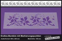 Schablone XL Bordüre Passionsblume Ranke - LB52 von Lunatik-Style via dawanda.com