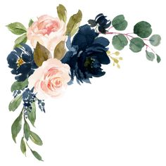 Shop Navy Blue and Blush Pink Floral Country Wedding Square Sticker created by RusticWeddings. Wedding Invitation Background, Country Wedding Invitations, Flower Frame, Flower Art, Floral Watercolor, Watercolor Paintings, Free Watercolor Flowers, Blush Pink Weddings, Blue Weddings