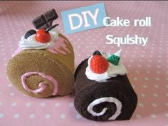 DIY Cake Roll Squishy tutorial