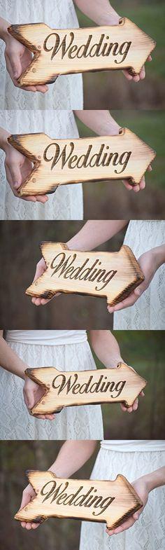 Wedding Sign - Laser Engraved Wedding Sign - Rustic Wedding - Wooden Arrow Sign - Wedding Signage - Wedding Signs - Wood Wedding Sign