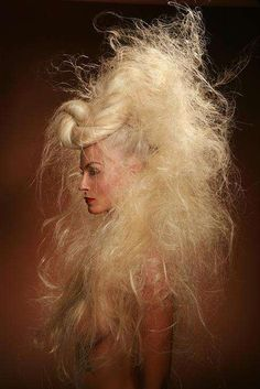 this is some wild crazy hair!