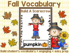 Fall Vocabulary Game - Introduce your students to a fun and engaging way to learn fall vocabulary.  Simply print the game and teach your students to play hangman with a scarecrow.Included:35 vocabulary cardsScarecrow Game Board with letter trackingYou may also be interested in:Fall Reading Passage BundleConnect with Amy LabrascianoBe sure to follow my TpT store by clicking on the red Follow Me next to my Seller picture to receive notifications of new products and upcoming sales.