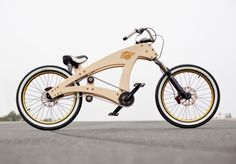 Wooden low-rider bicycle