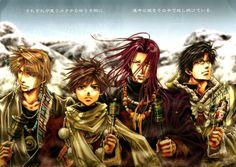 Genjo Sanzo, Son Goku, Sha Gojyo, Cho Hakkai - Saiyuki