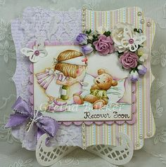 Get Well Wishes, Get Well Cards, Lily Of The Valley, Card Sketches, Copics, Sympathy Cards, Kids Cards, Cute Cards, I Card