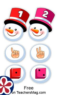 Snow Activities, Winter Activities For Kids, Preschool Activities, Maths Paper, Grande Section, Number Matching, Christmas Crafts For Kids To Make, Free Preschool, Business For Kids
