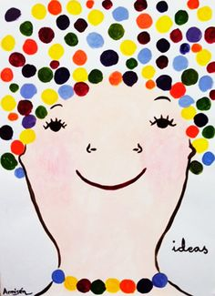 Self portrait idea for learning about pointillism in second grade.  Use bingo markers ?