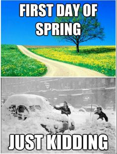 First day of spring be like.. NJ