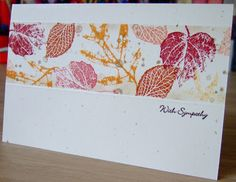 Furry Tale Cards and Crafts: Sympathy Foliage