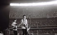 McCartney and Harrison at Shea Stadium