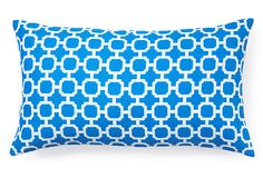 Accent pillow to tie together our white and blue couch - thoughts? Hockley 11x20 Outdoor Pillow, Nile Blue on OneKingsLane.com