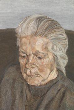 Lucian Freud 'The Painter's Mother IV', 1973 © The Lucian Freud Archive / Bridgeman Images