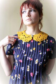Crocheted, Peter Pan, Collar via Etsy.
