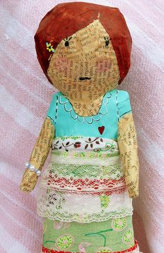 paper mache with the addition of cloth/lace