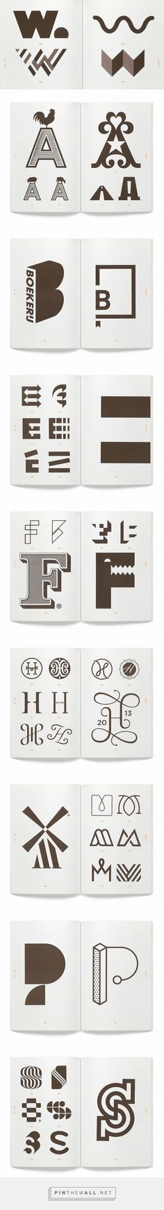 Alphabet Logo, from Counter-Print | Logo Design Love - created via https://pinthemall.net                                                                                                                                                                                 More