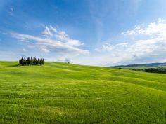 [フリー画像素材] 風景, 自然, 丘, 草原, 青空 ID:201405192000