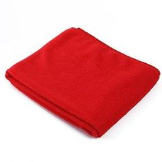 ♚ TravelEst Hub™ ♚- Red Microfiber Super Absorb Bath Towel Beach Sport Soft Towel 35x75cm Washclooths - Visit to see more options