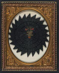 In the Swan's Shadow: Cased memorial rosette, 1861-65