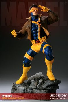 The Cyclops Premium Format figure captures every aspect of the Marvel X-Men hero in stunning detail. #sideshow #cyclops #marvel