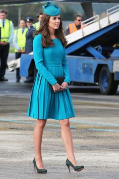 Wickstead injects a lot of colour into the Duchess's wardrobe too – we love the Miss Peacock vibe of this recent ensemble in New Zealand.