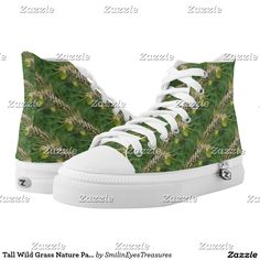 Tall Wild Grass Nature Pattern Printed Shoes from Smilin' Eyes Treasures at Zazzle.