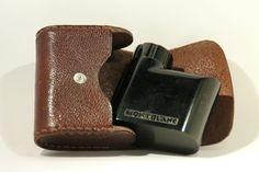 Montblanc Traveller`s Ink Bottle in Original Case Leather Year 1936
