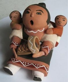 Love this take on the Pueblo storyteller dolls!