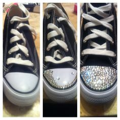 d8a3375fe DIY bling Swarovski crystal sneakers. Used e6000 glue