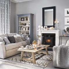 grey living room ideas for gorgeous and elegant spaces Pretty living room grey Ideal Home .ukPretty living room grey Ideal Home . Coastal Living Rooms, My Living Room, Small Living, Cosy Grey Living Room, Grey Room, Living Room Ideas Modern Grey, Grey Living Room Ideas Colour Palettes, Ideas For Living Room, Living Room Decor Colors Grey