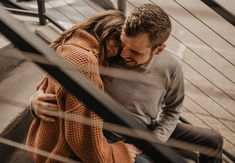 Downtown Portland + Urban Couple Session // trendy couple // Free People sweater