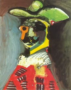 Pablo Picasso. Buste d`homme. 1970 year