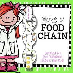 Have your students create their own food chain! These look great dangling from the ceiling or bulletin board and they are so much fun to make. The chain model illustrates the interdependence of plants and animals and shows how the suns energy flows through various organisms.