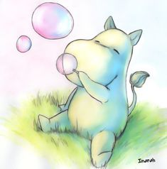 Cute Moomin was Playing Bubbles Illustrations, Illustration Art, Hippo Tattoo, Hippo Drawing, Bubble Drawing, Tove Jansson, Cute Drawings, Cute Animals, Artsy