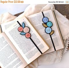 FALL SALE Bookmark Set Great Gift for Teacher or by LoveMaude