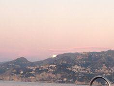 Taormina seen from Giardini Naxos bay
