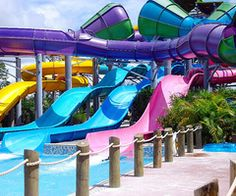 i love going to waterparks during summer!