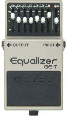 Boss GE-7 7-Band EQ Pedal by Boss. $95.05