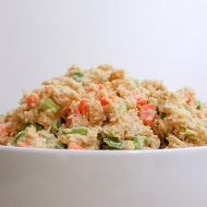Mashed Chickpea Salad: Celery, carrots, scallions, hummus/tahini,  mustard, garlic powder, pper, pumpkin seeds, paprika