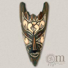 Kleine bemalte Holzmaske (20cm) Tattoos, Wood Carvings, Masks, Tatuajes, Tattoo, Tattos, Tattoo Designs