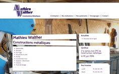 Mathieu Walther fait confiance à l'agence Web4 pour la création de son nouveau site internet www.walther-construction-metallique.ch en ligne maintenant! | Agence Web4