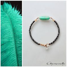 JEWELRY | Chryssomally || Art & Fashion Designer - Bracelet with a beautiful amazonite stone paired with pearls, crystals and rose gold elements Fashion Art, Fashion Design, Bracelet Designs, Delicate, Beaded Bracelets, Rose Gold, Pairs, Crystals, Stone