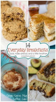14 of my favorite everyday breakfasts that can be made ahead and frozen, and they're a little healthier than the original versions!