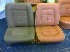 Car Seat Reupholstery Before And After