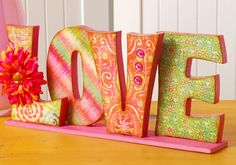 General Crafts - LOVE Letters or spell out a name Diy Projects To Try, Crafts To Do, Wood Crafts, Arts And Crafts, Decoupage Letters, Mod Podge Crafts, Letter A Crafts, Craft Letters, Pintura Country