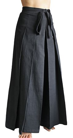ChomThong mano tejida algodón pantalones Hakama PFS-026-01