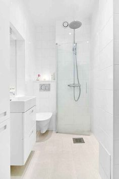 50 Stunning Small Bathroom Makeover Ideas 39 In 2019 Wet Room Bathroom, Tiny Bathrooms, Bathroom Layout, Bathroom Ideas, Bathroom Cabinets, Bathroom Sinks, Bathroom Colors, Bathroom Organization, Shower Ideas