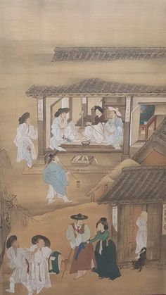풍속도, Poongsok-do  This is another painting by Mr.Kim Hong Do. Enjoy a view of Joseon dynasty.  Photo @national folk museum of Korea