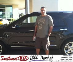 #HappyAnniversary to Nicolas Avila on your 2013 #Ford #Explorer from Reed  Chenault at Southwest Kia Mesquite!