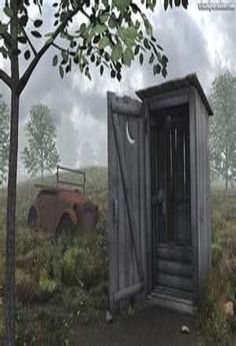 Old Outhouse & Old Car